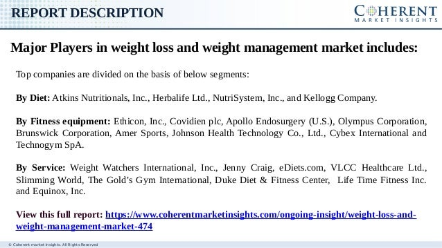 Weight Loss and Weight Management Market: Global Industry ...