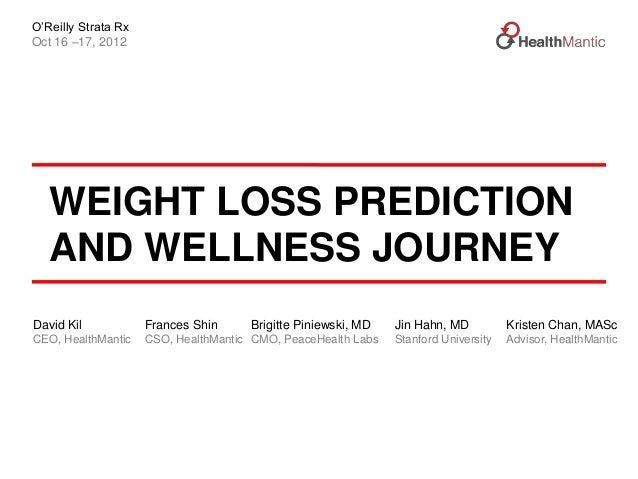 O'Reilly Strata RxOct 16 –17, 2012   WEIGHT LOSS PREDICTION   AND WELLNESS JOURNEYDavid Kil            Frances Shin     Br...