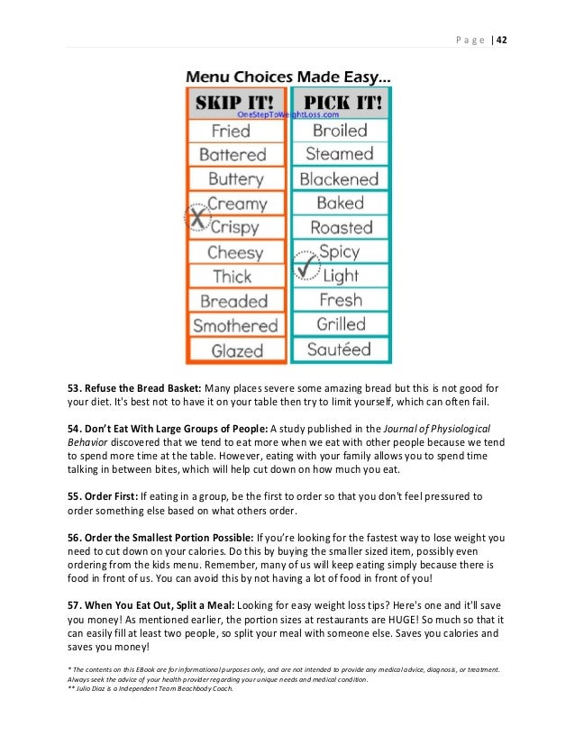 Step by step weight loss plan with 150 weight loss tips 43 fandeluxe Images