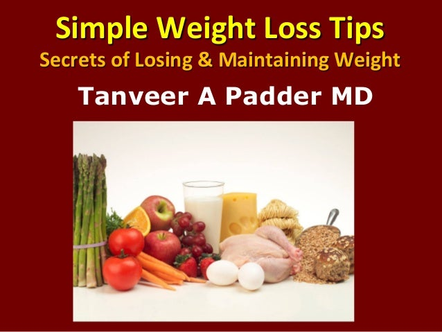 An analysis of maintaining a healthy weight