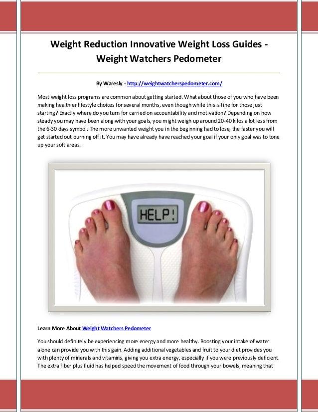 Weight watchers pedometer