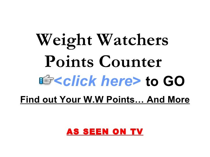 weight watchers points counter. Black Bedroom Furniture Sets. Home Design Ideas