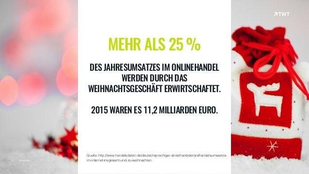 © twt.de MEHR ALS 25 % DES JAHRESUMSATZES IM ONLINEHANDEL WERDEN DURCH DAS WEIHNACHTSGESCHÄFT ERWIRTSCHAFTET. 2015 WAREN E...