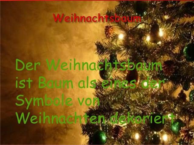 Der Weihnachtsbaum ist Baum als eines der Symbole von Weihnachten dekoriert.