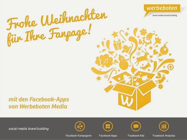 Copyright@2013 Werbeboten Media 1Facebook Analytics social media brand building Facebook AppsFacebook Kampagnen Facebook A...