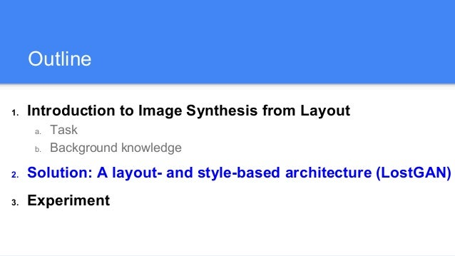 Image Synthesis From Reconfigurable Layout and Style Slide 2