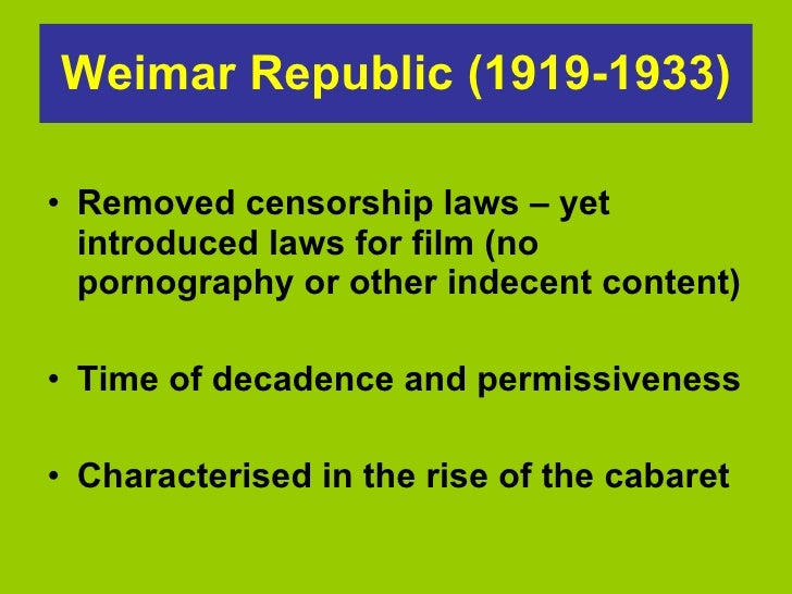 02 the weimar republic and its Anotácia knihy between the end of world war i and the nazi assumption of power, germany's weimar republic (1919-1933) functioned as a.