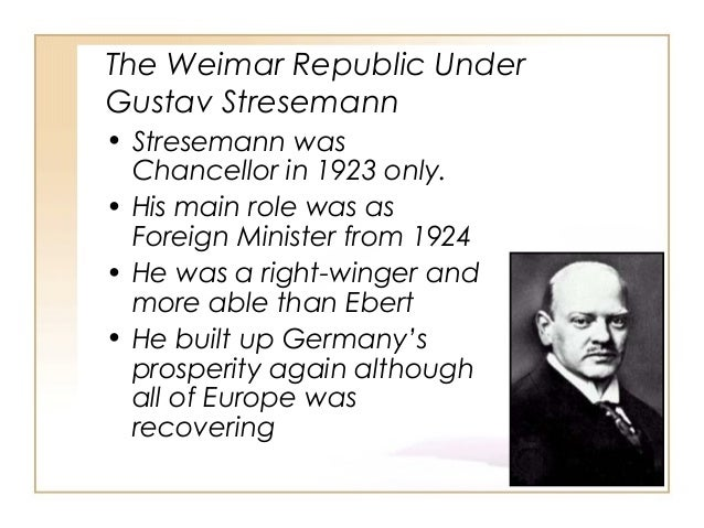 Stresemann and the Rearmament of Germany