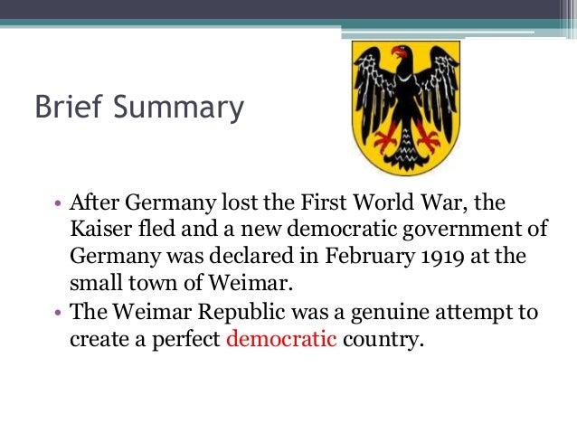 Weimar Germany overview