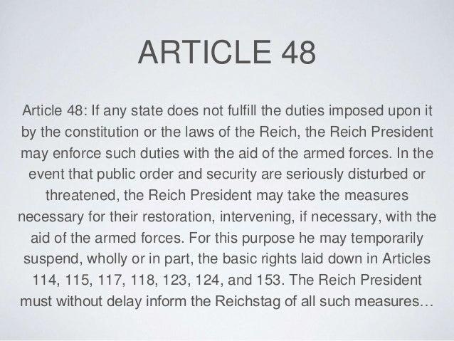article 24 s publique de weimar