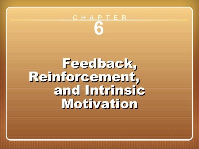 Chapter 6: Feedback, Reinforcement, and Intrinsic Motivation 6 Feedback,Feedback, Reinforcement,Reinforcement, and Intrins...