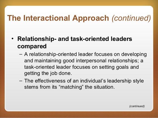 relationship oriented leadership behaviors and characteristics