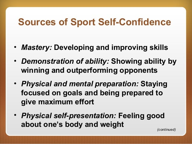 self confidence in sport