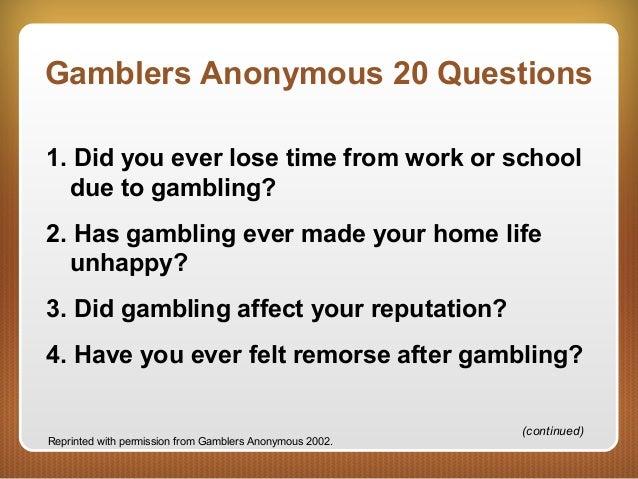 Has gambling ever made your homelife unhappy north carolina casino boat