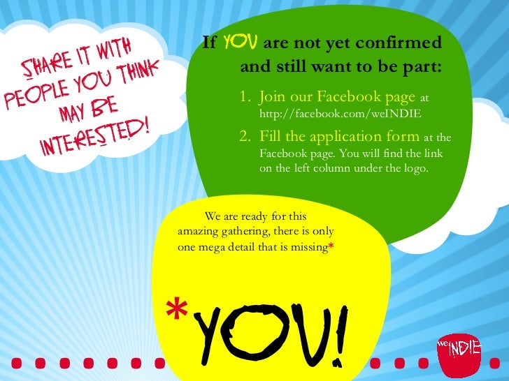 If you are not yet confirmed          IT WITH K  SHARE U THIN                     and still want to be part:PEO PLE YO    ...