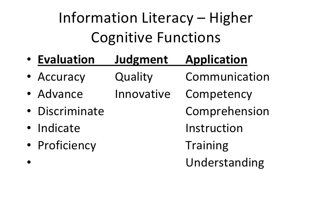 the what and who of information literacy and critical thinking in higher education Information literacy competency standards for higher education these standards were reviewed by the acrl standards committee and approved by the board of directors of the association of college and research libraries (acrl) on january 18, 2000, at the midwinter meeting of the american library association in san antonio, texas.