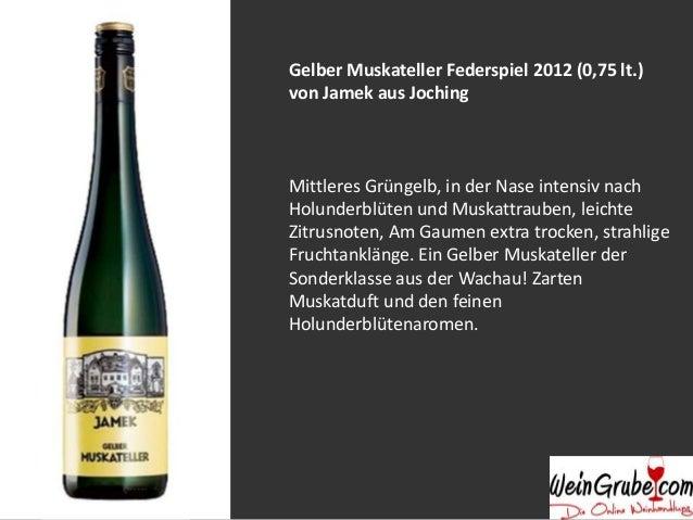 Weißburgunder Smaragd Hochrain 2011 (0,75 lt.) von Jamek aus Joching Dichtes Bukett mit endlosem Duft und kompakter Säure....
