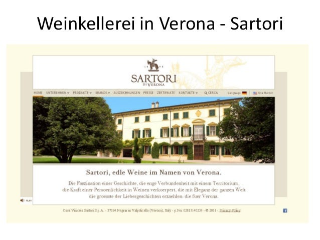 Weinkellerei in Verona - Sartori
