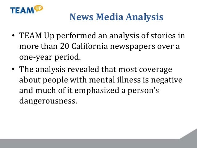 News Media Analysis • TEAM Up performed an analysis of stories in more than 20 California newspapers over a one-year perio...