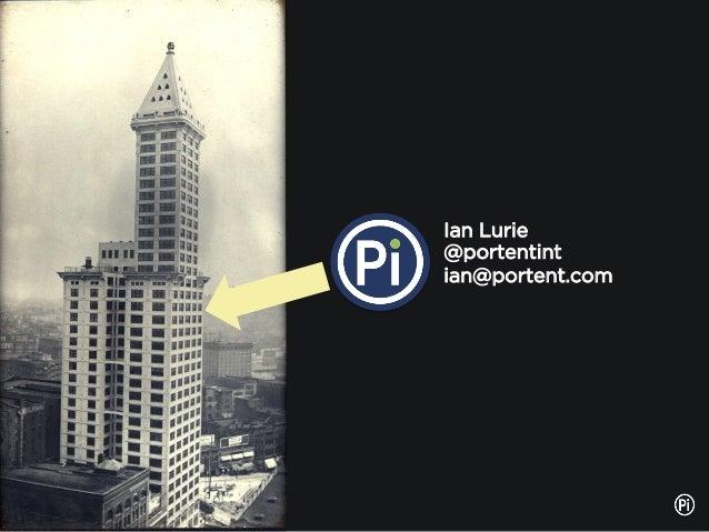 Ian Lurie @portentint ian@portent.com