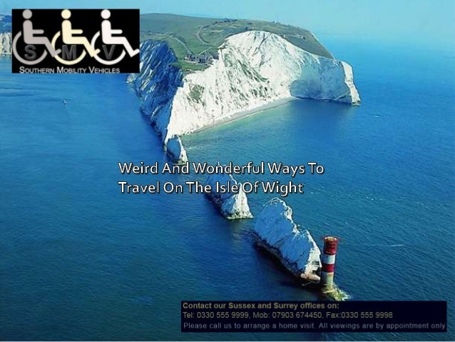 If you've ever travelled to the Isle ofWight, you've probably used one of the transport modes that the island has to offer...