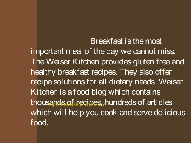 why is breakfast the most important