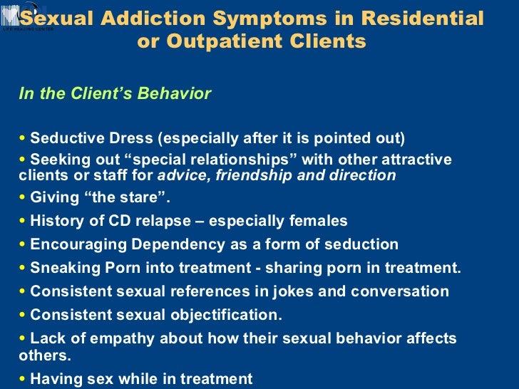 Sex addictions symptoms
