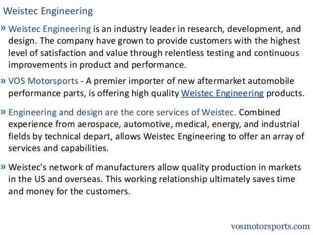 Weistec Engineering Products Slide 2