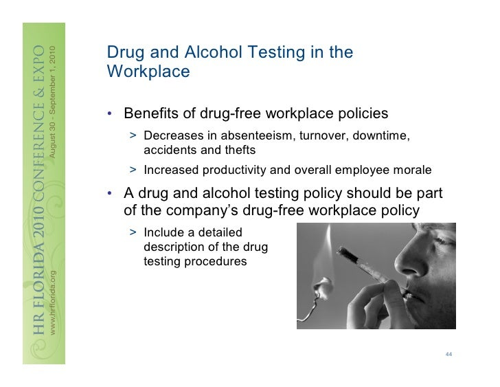 work place drug screening Florida laws on workplace drug testing under florida law after the employee returns to work following rehabilitation for a positive drug test.