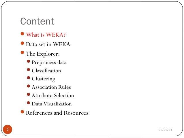 weka presentation rh slideshare net Weka Documentation Weka Documentation