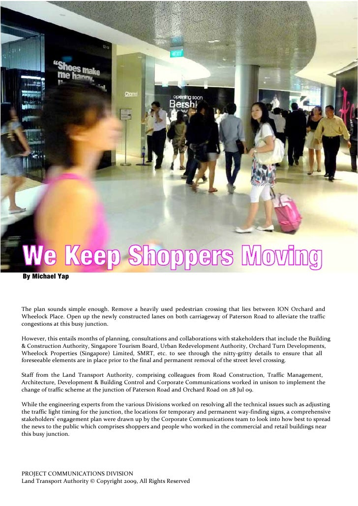 We Keep Shoppers Moving