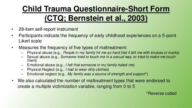Childhood Trauma Questionnaire