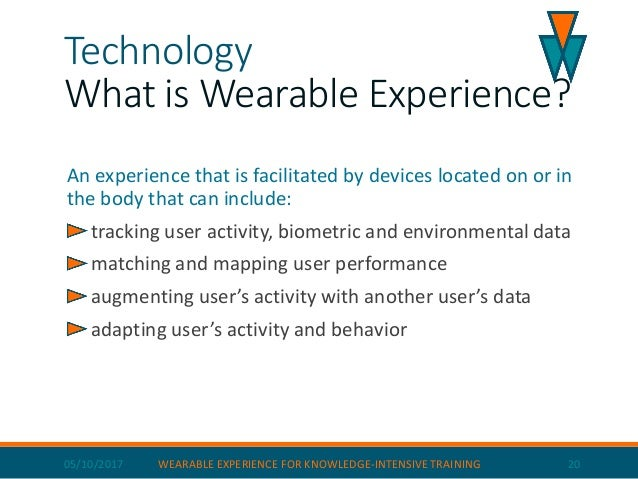 05/10/2017 WEARABLE EXPERIENCE FOR KNOWLEDGE-INTENSIVE TRAINING 21 Software architecture Recorder
