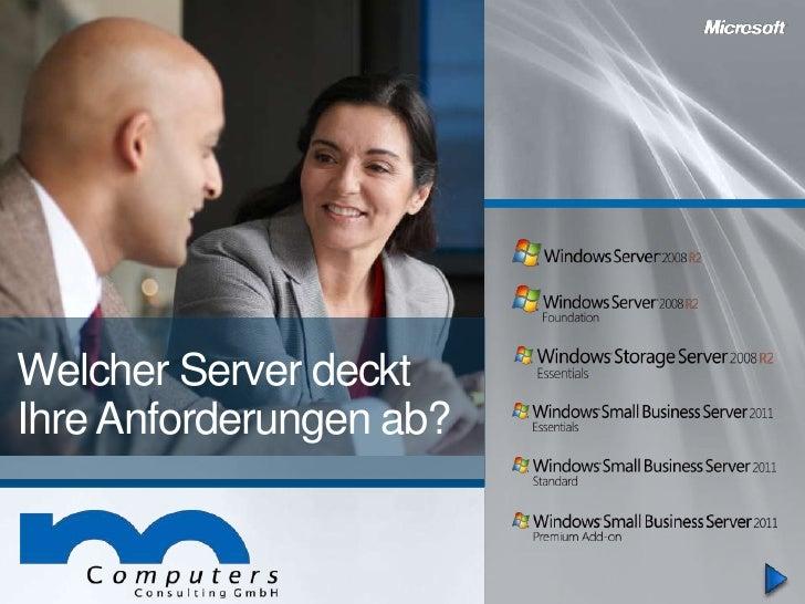 Welcher Server decktIhre Anforderungen ab?