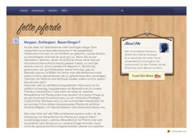 Home    Impressum    Archive    RSS  Nepper, Schlepper, Bauerfänger?  Ist das alles nur Geldmacherei oder benötigen einige...