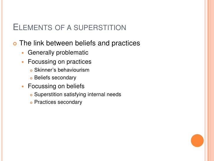 What are the examples of superstitious beliefs? Youtube.