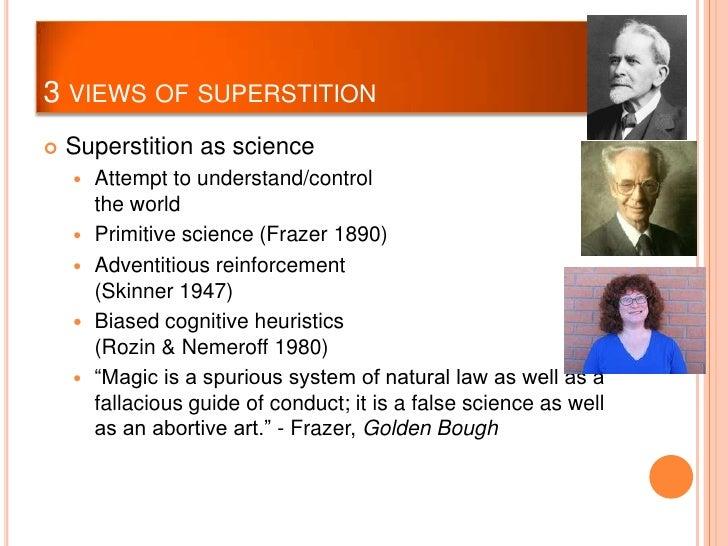 Science vs superstition