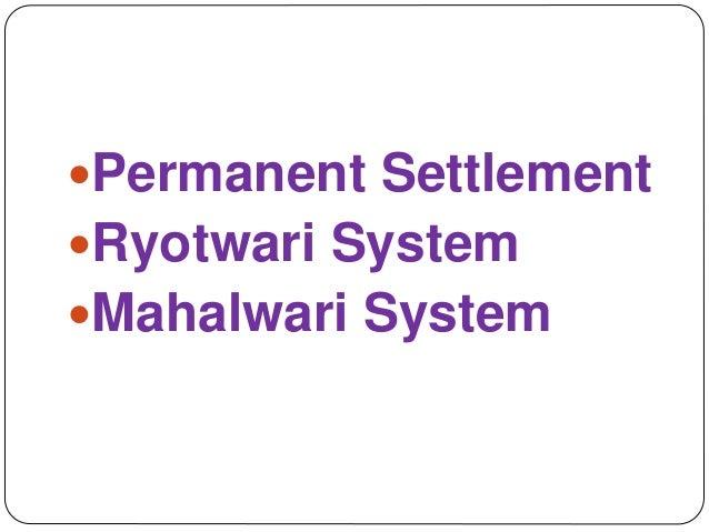 Land Revenue Systems in British India: Zamindari, Ryotwari and Mahalwari