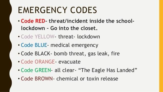 Code Orange Emergency Room