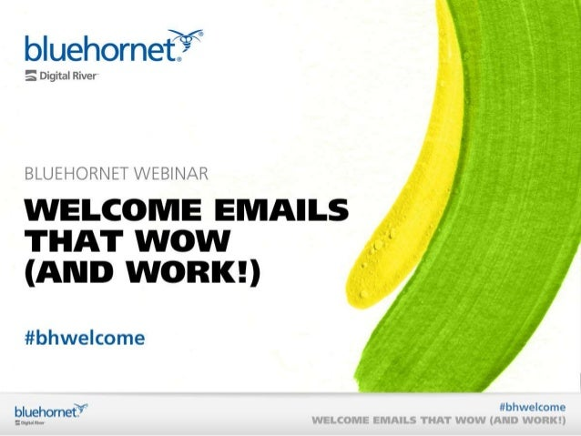 Creating Welcome Emails that Wow (And Work!)