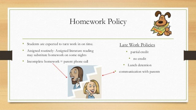 Policy and procedure do my homework