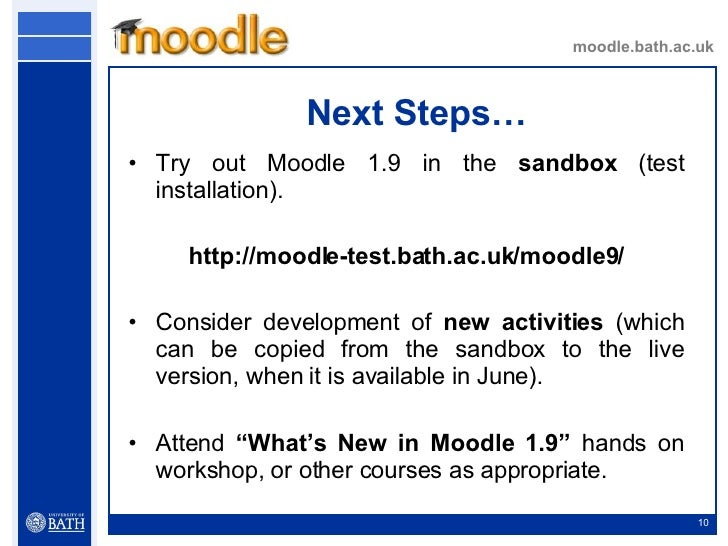 Welcome To Moodle 1 9