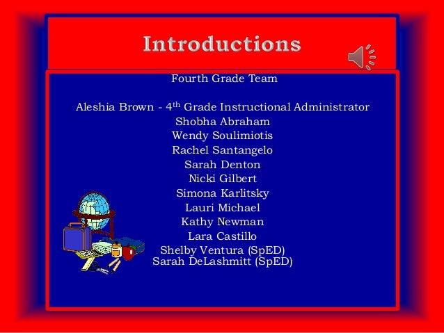 4th Grade Curriculum Night Spanish