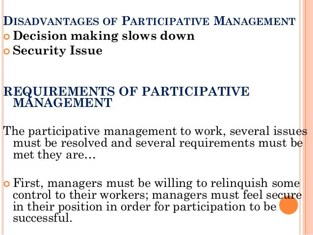 The Disadvantages of Participative Leadership Theories