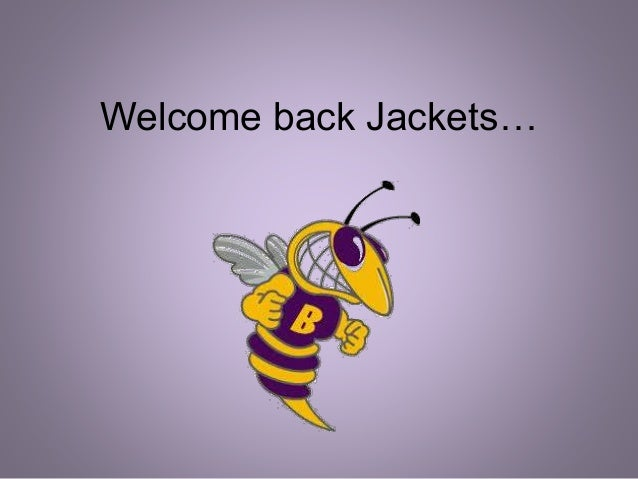 Welcome back Jackets…
