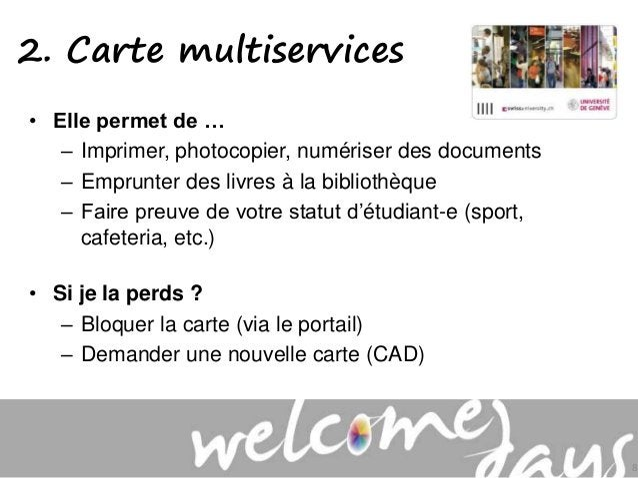 • Elle permet de … – Imprimer, photocopier, numériser des documents – Emprunter des livres à la bibliothèque – Faire preuv...