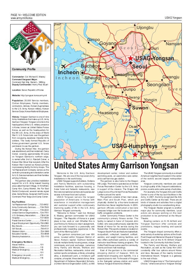 Welcome To Korea Guide - Us army dental base map