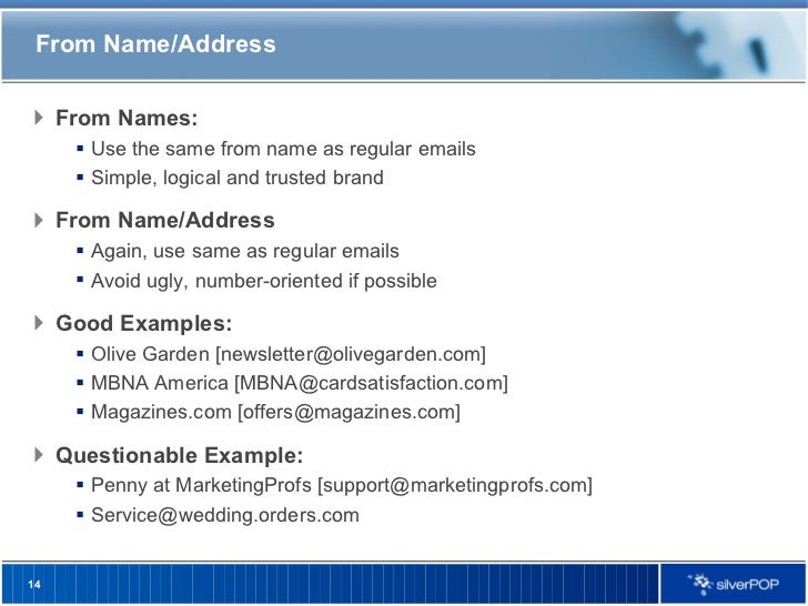Welcome Email Best Practices Silverpop