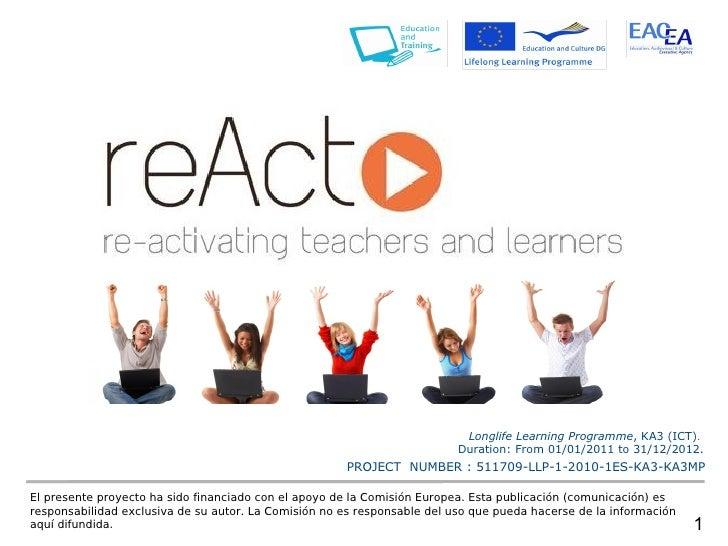 Longlife Learning Programme, KA3 (ICT).                                                                          Duration:...