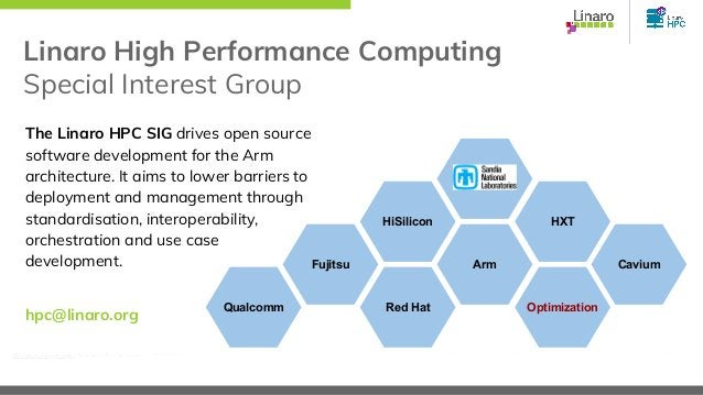 Linaro High Performance Computing Special Interest Group The Linaro HPC SIG drives open source software development for th...